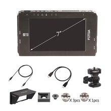 "FOTGA DP500IIIS A70 A70T A70TL A70TLS pantalla táctil de 7 ""FHD vídeo en cámara Monitor de campo 1920x1080 HDMI SDI / 4K para DSLR Cinema"
