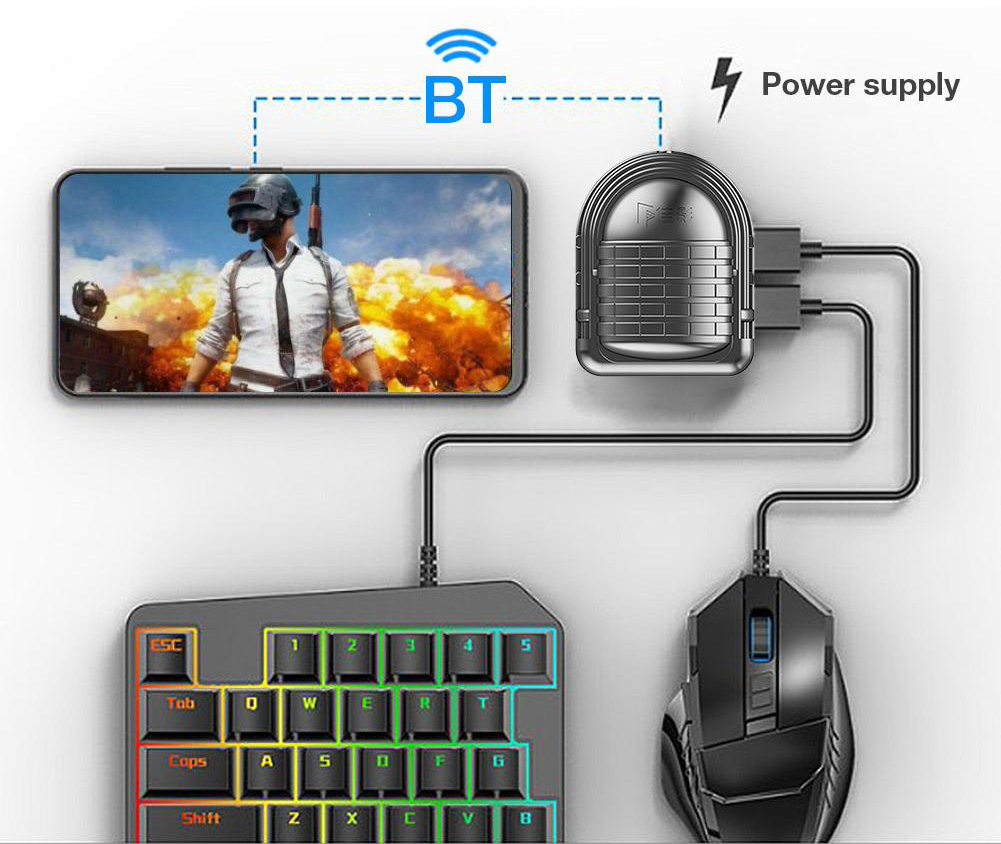 G-MIX 3 Gamepad PUBG Battle Dock PUBG Controller CoD Keyboard Mouse Converter Docking for FPS Games image