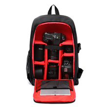 Camera Backpack Waterproof Nylon DSLR Camera Bag Video Bags with Rain Cover Tripod Cases PE Padded for Photographer Canon Nikon цена