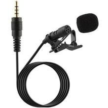 3.5mm Mini Lavalier Microphone Hands Free Clip On Mini Lapel Mobiloe Phone Microphone Portable Mic for Computer Phone(China)