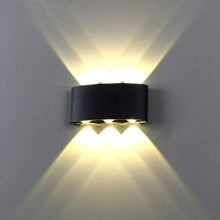 Modern LED wall light 18W Die-cast aluminum Indoor Outdoor lighting lamp Wall mounted sconce AC85-265V Waterproof IP65