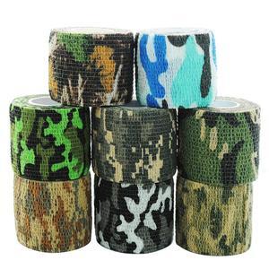 6 cores camuflagem tática 1 rolo estiramento bandagem ao ar livre caça tiro fita militar arma acessório bicicleta decoração|Blind & Carrinho Da Árvore|   -