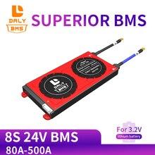 Placa bms da proteção da bateria de daly 3.2v lifepo4 8s 24v 80a 100a 200a 500a 18650 lfp pcm com módulo equilibrado da bateria de lítio
