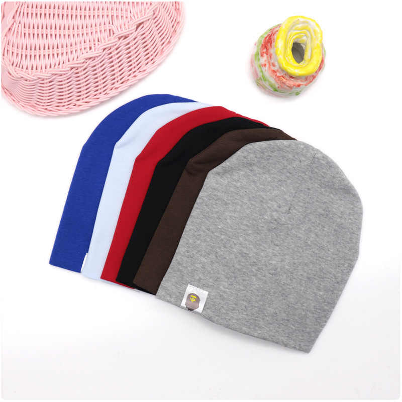 New Baby Girls Boys Autumn Hat Toddler Street Dance Hip Hop Hat Winter Cotton Scarf Cap Warm Solid Color Children Spring Hats