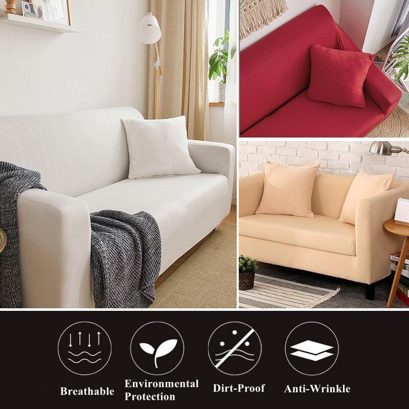 Твердые Цвет для диванов эластичные европейских и американских