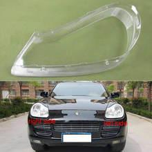 For Porsche Cayenne 2007 2008 2009 2010 Headlight Shell  Lamp Shade Transparent Cover Headlight  Glass Headlamp Cover