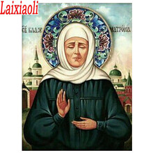 Full Square/Round Diamond Painting Saint Matrona the Blind of Moscow 5d diamond Embroidery Mosaic Religion Icon Handmade Gift