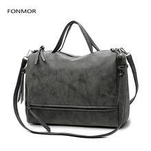 Модная женская сумка на плечо из нубука винтажная мессенджер