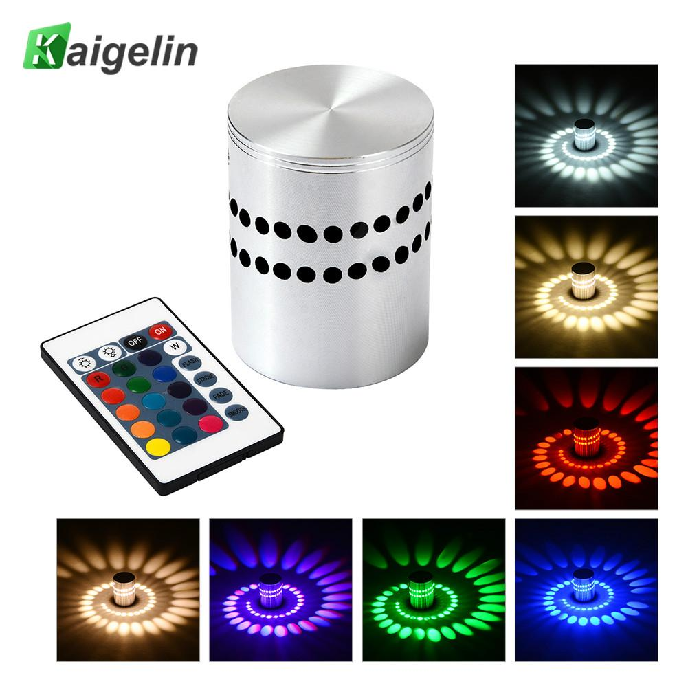 HOT SALE 3W Innovative Wall Lamp Aluminum LED Porous Colorful Hotel Background KTV Club Light Ambient Lamp 8 Colors Optional