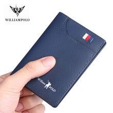 Cartera corta de cuero genuino para hombre tarjetero piel de vaca suave Mini monederos ajustado nuevo diseño minimalista vintage billetera