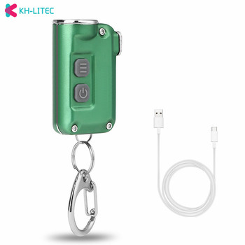 цена на Small Lantern Pocket Mini Flashlight Dual Switch White LED Torch USB Rechargeable Lantern Keychain Backpack Light with Bttery