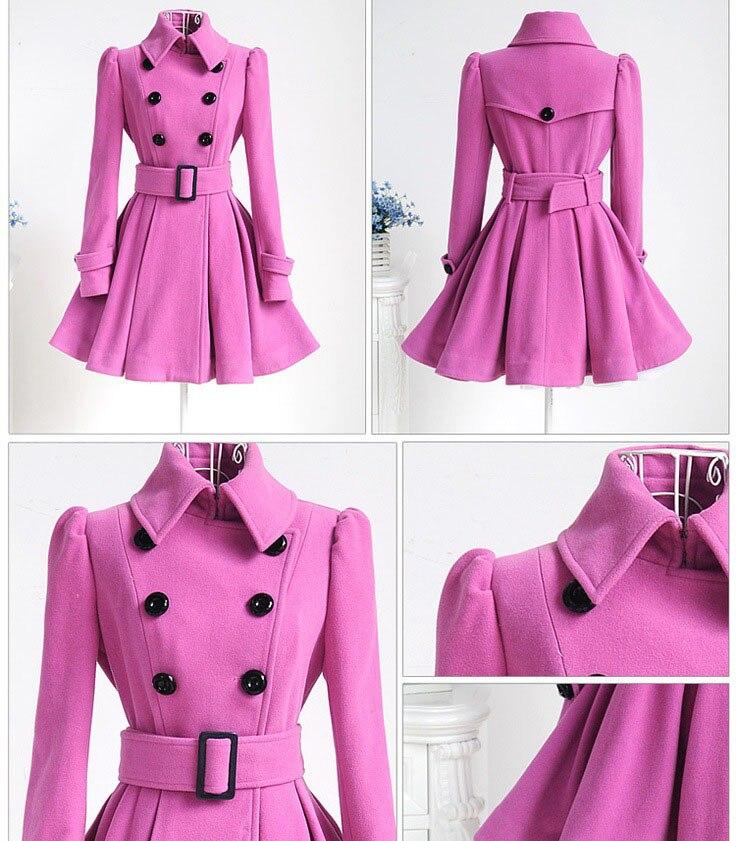 Autumn Winter Coat Women 2019 Fashion Vintage Slim Double Breasted Jackets Female Elegant Long Warm White Coat casaco feminino 49