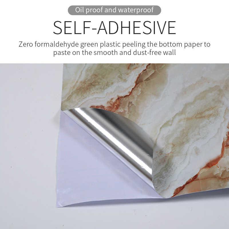 1M, papel de Contacto de mármol para cocina, pegatinas de pared de PVC, pegatinas de encimera de mármol, papel tapiz impermeable autoadhesivo para Baño
