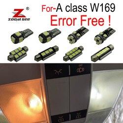 12 sztuk tablica rejestracyjna LED żarówka + żarówki do wewnętrznych lamp samochodowych zestaw do Mercedes Benz A klasa W169 A150 A160 A170 A180 A200 (2005-2012)