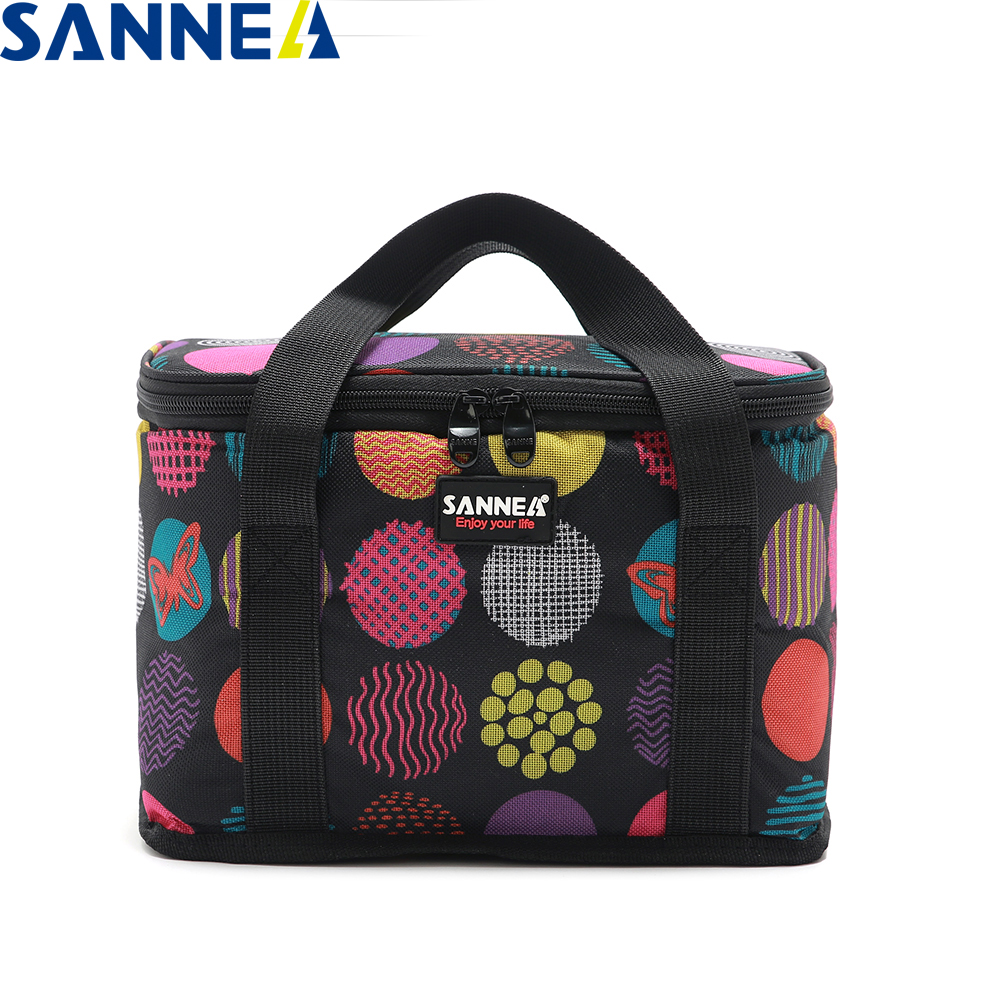 SANNE 9L Insulated Thermal Bag 6 Cans 330MLbear Cooler Bag Thermal Waterproof Portable Insulated Ice Bag Can Carry Drink&coke