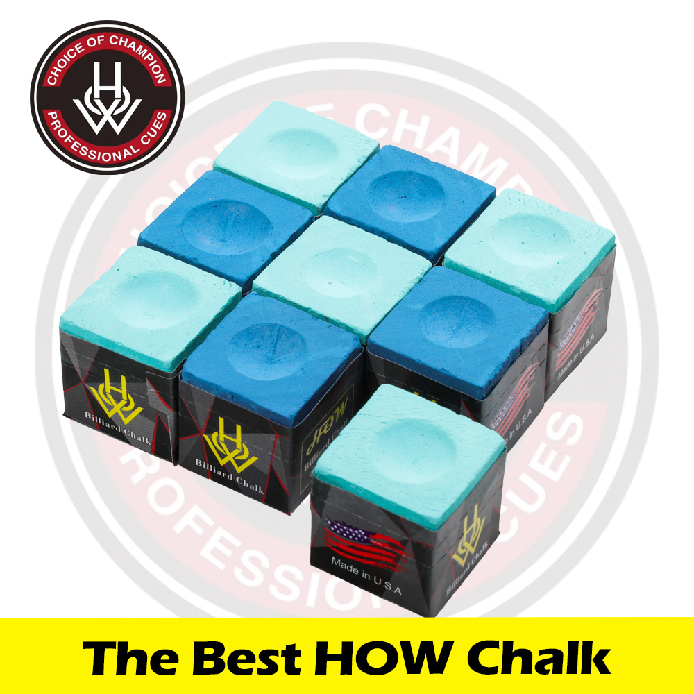 HOW Chalk Billiard Cue Tailor-made Chalk Snooker Chalk Powder Pool Chalk 2 Pieces Per Box Two Color Options Billiard Accessories