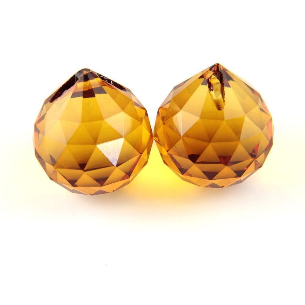 Lustre cristaux boule 15mm 40mm mélange couleur Suncatcher cristal à facettes boule éclairage pendentif cristal lustre pièces-in Figurines et miniatures from Maison & Animalerie    1