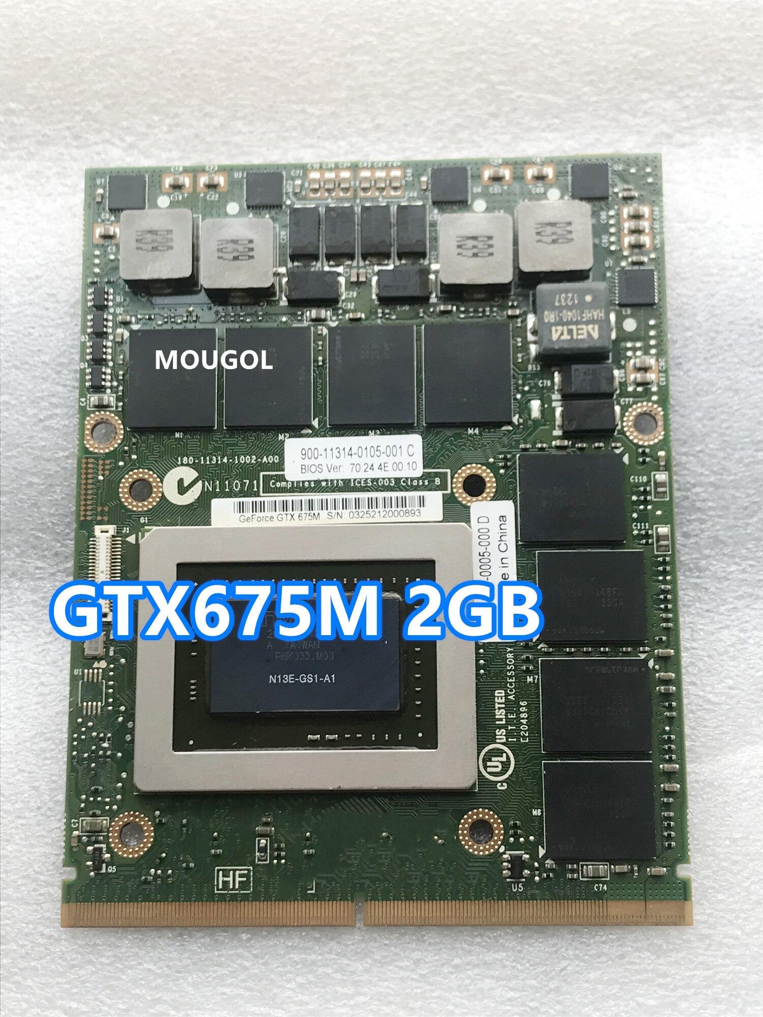 Placa de Vídeo Ddr5 para Laptop Brand Novidades Vga Gráficos 7w4gt Dell M6000 M6600 M6700 M6800 M15x M17x r2 r3 r4 Gtx675m Gtx 675m