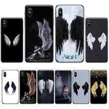 With Angel Wings Best Soft Silicone TPU Phone Cover For iphone 4 4s 5 5s 5c se 6 6s 7 8 plus x xs xr 11 pro max