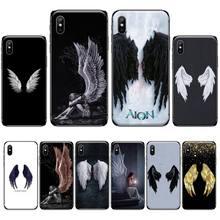 Z anielskimi skrzydłami najlepszy miękki silikonowy TPU telefon pokrywa dla iphone 4 4s 5 5s 5c se 6 6s 7 8 plus x xs xr 11 pro max tanie tanio BBTHBDNBY CN (pochodzenie) Częściowo przysłonięte etui Urządzenia iPhone Apple IPHONE 4S do Iphone5 Iphone5c Do telefonu iPhone 6