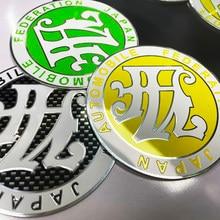 JAF-emblema para maletero de coche, pegatina 3D de Metal, rojo, amarillo, negro, verde, JDM, Unión Japonesa, A3, A4L