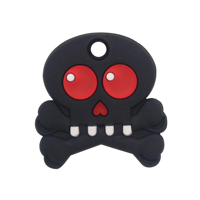 1pc crânio bebê mordedor bpa livre silicone mordedor diy artesanato acessórios presente do feriado dentição brinquedos