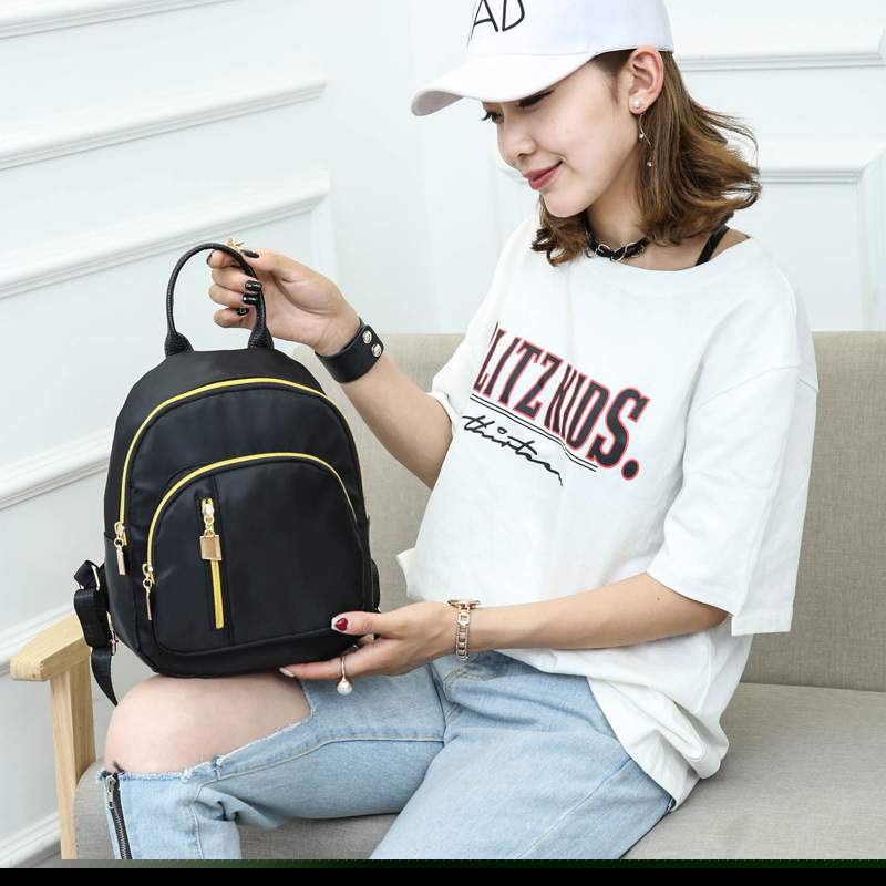 Summer New Casual Oxford Backpack Female Black Waterproof Nylon Bag Suitable For Girls Travel High Quality