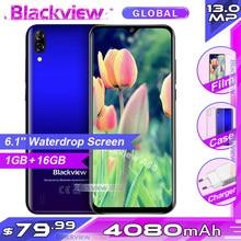 Blackview A60 Smartphone 4080Mah Batterij 19:9 6.1 Inch Dual Camera 2Gb Ram 16Gb Rom Mobiele Telefoon 13MP + 5MP Camera