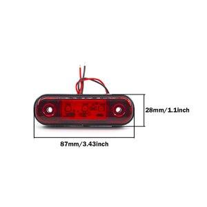 Image 3 - 2/4/6/8/10x 3 LED External Side Marker Warning Tail Light Lamp Clearance Signal Brake Indicator Trailer Truck Lorry 12V 24V