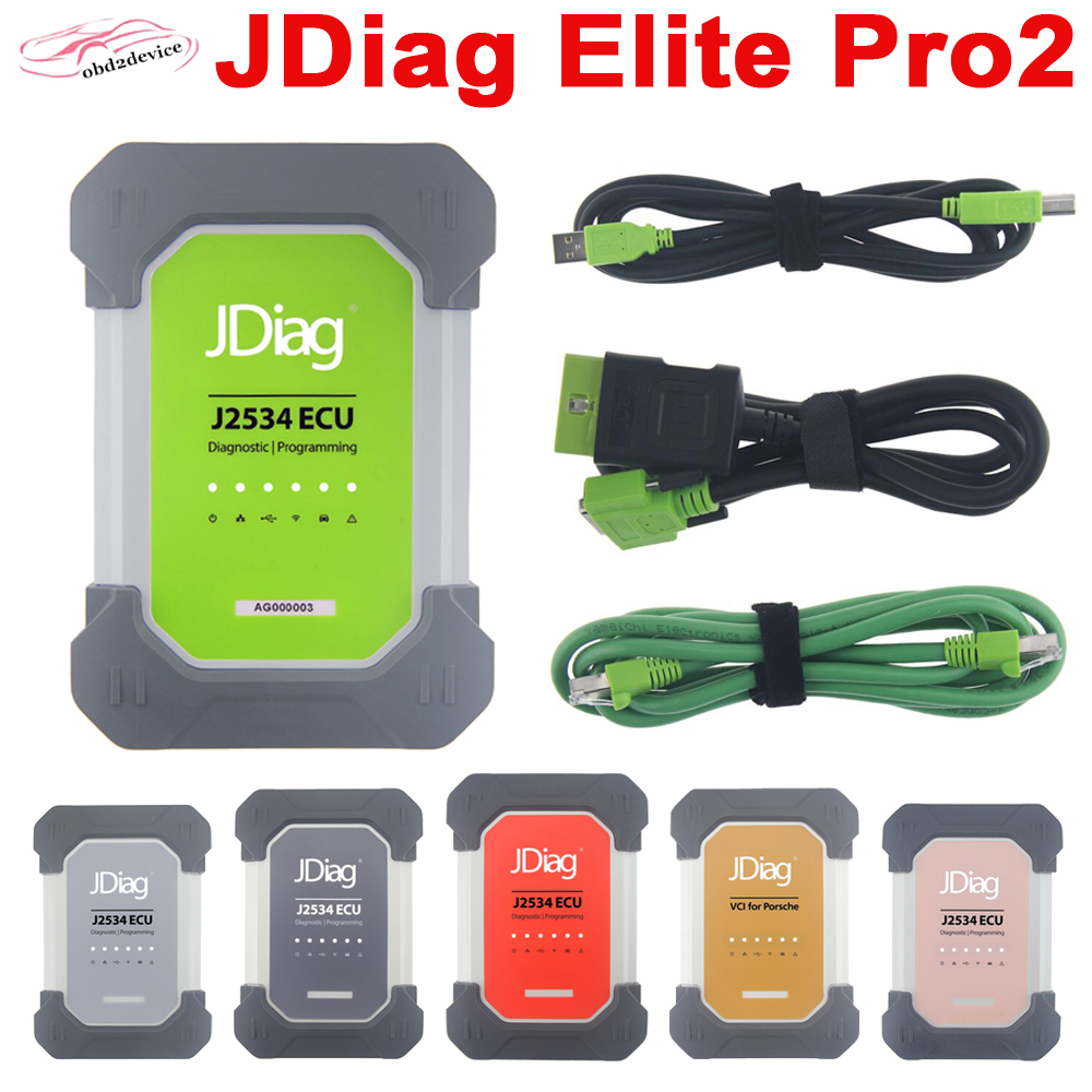JDIAG ELITE PRO2 For MB/POR-SCHE/VW-ADUI Car Obd Scanner And ECU Programmer For POR-S-CHE/TO-YO-TA/NIS-SAN Code Reader For BMW