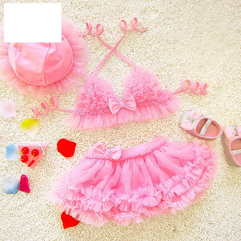 Outer Wear Elastic Parent And Child GIRL'S Swimsuit Set Girls Kids Little Princess Small Princess Loli Children