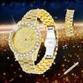 Полностью шикарные большие часы с бриллиантами для мужчин, мужские кварцевые часы в стиле хип-хоп, водонепроницаемые мужские часы с датой, з...