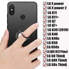 Voor Lg G8s G8X G8 Thinq K30 2019 K40 K40s K50s K50 Q60 K12 Prime K11 Plus Q7 X Power 2 Terug Ring Houder Beugel Case Soft Cover