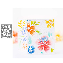 JC Flowers Rectangle Metal Cutting Dies Scrapbooking Craft Cut Die Stencil Background Handmade Tool Album Paper Card Make Decor jc metal cutting dies and stamps stencil flowers butterfly craft cut die scrapbook diy handmade album paper cards decor dies