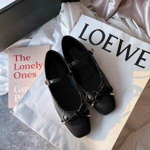 Image 5 - SWYIVY ผู้หญิงรองเท้าแบนสุภาพสตรีบัลเล่ต์ Mary Janes สบายๆฤดูใบไม้ผลิหญิงเดี่ยวรองเท้า SLIP ON รองเท้าผู้หญิงตื้น loafers 40