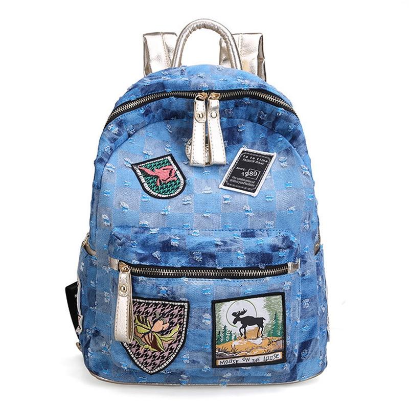 Mode cowboy sac à dos femmes sac coloré nouveau à la mode adolescent sac d'école de luxe voyage sac à dos femmes concepteur de haute qualité