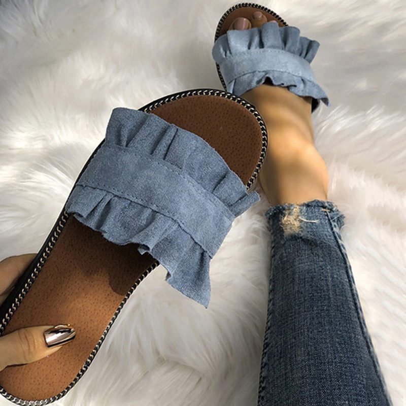 Women Slippers Flat Woman Shoes Summer Beach Slip On Slides Flip Flops Sandals Ladies Fashion Slippers Home Female Women's Shoes