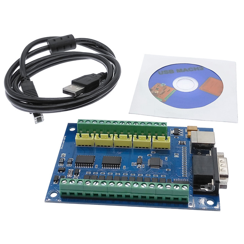 CNC Driver Board Breakout Board USB MACH3 Engraving Machine 5 Axis With MPG Stepper Motion Controller Card