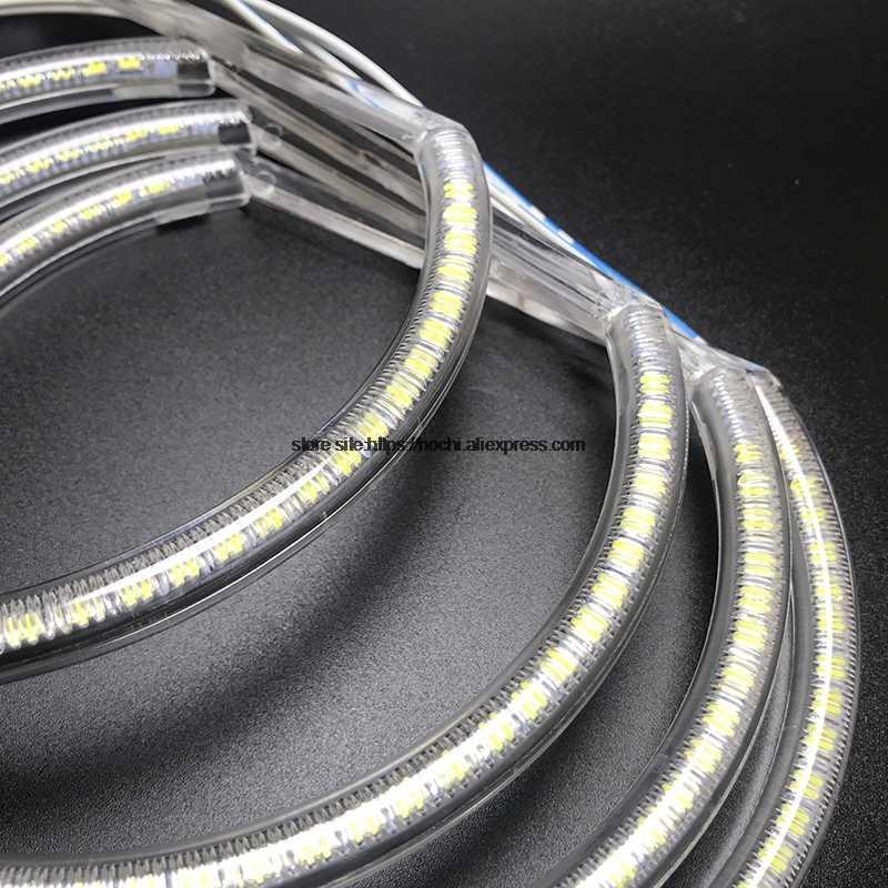 Hochitech para toyota x100 chaser 1996-2001 6th ultra brilhante smd branco led anjo olhos auréola anel kit luz de circulação diurna drl
