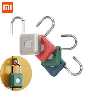 Xiaomi USB Rechargeable Smart Keyless Electronic Fingerprint Lock Home Anti-theft Safety Security padlock Door Luggage Case lock(China)