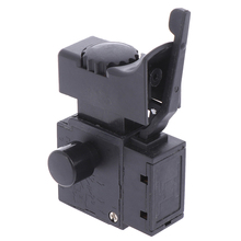 Black New 1PC FA2-6/1BEK Lock On Power Tool Electric Drill Speed Control Trigger Button Switch 6(6)A 250V 5E4