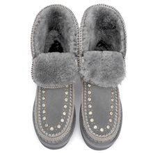 Chaussure Snow-Boots Luxury Fur-Shoes Girl Winter Fashion Women Ladies Ankle Bottes Sweet-Style