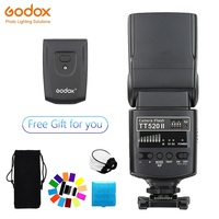 Godox TT520 II Flash TT520II Built in wireless reception, standard RT transmitter for Canon Nikon Pentax Olympus DSLR Cameras