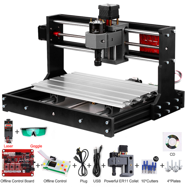 Upgrade Version CNC 3018 Pro GRBL Control DIY CNC Machine 3 Axis Pcb Milling Machine Wood Router Engraver Offline Controller