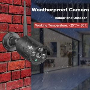 Image 2 - Hiseeu 8CH Wireless NVR 1080P HD Outdoor Home Security Camera System CCTV Video Surveillance NVR Kit 1080P Wifi Camera Set black