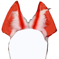 MMGG New Hand Red White Fox Wolves Wolf Ears Hair Hoop Hairbands Headwear For Lolita Halloween Cosplay Costume Accessories