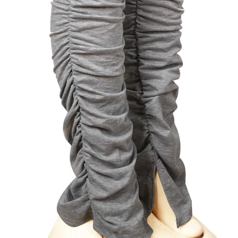 Pantalons de survêtement empilés Joggers femmes taille haute Flare Pantalon grande taille Fitness Pantalon solide vêtements actifs Streetwear