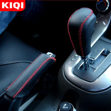 Car-Gear-Shift-Knob-Cover Chevrolet Transmission-Hand-Stitched for KIQI Cruze AT DIY