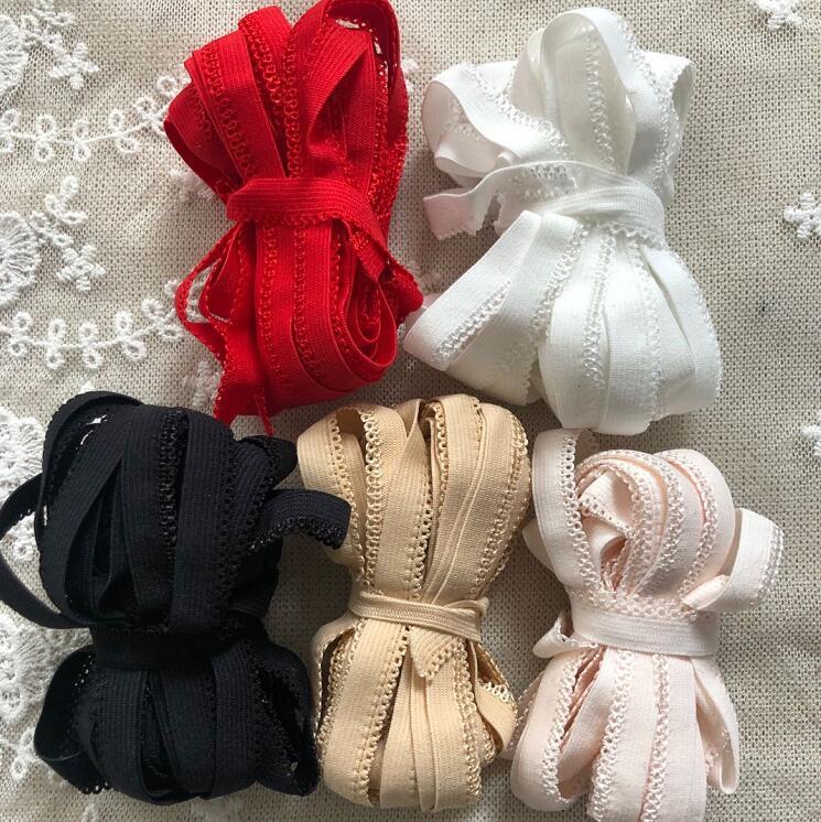 10 метров, высокое качество, 1 см ширина, черный, белый, розовый, красный, эластичная кружевная отделка, аксессуары для одежды, эластичная кружевная ткань lace fabric elastic lace fabriclace trim   АлиЭкспресс