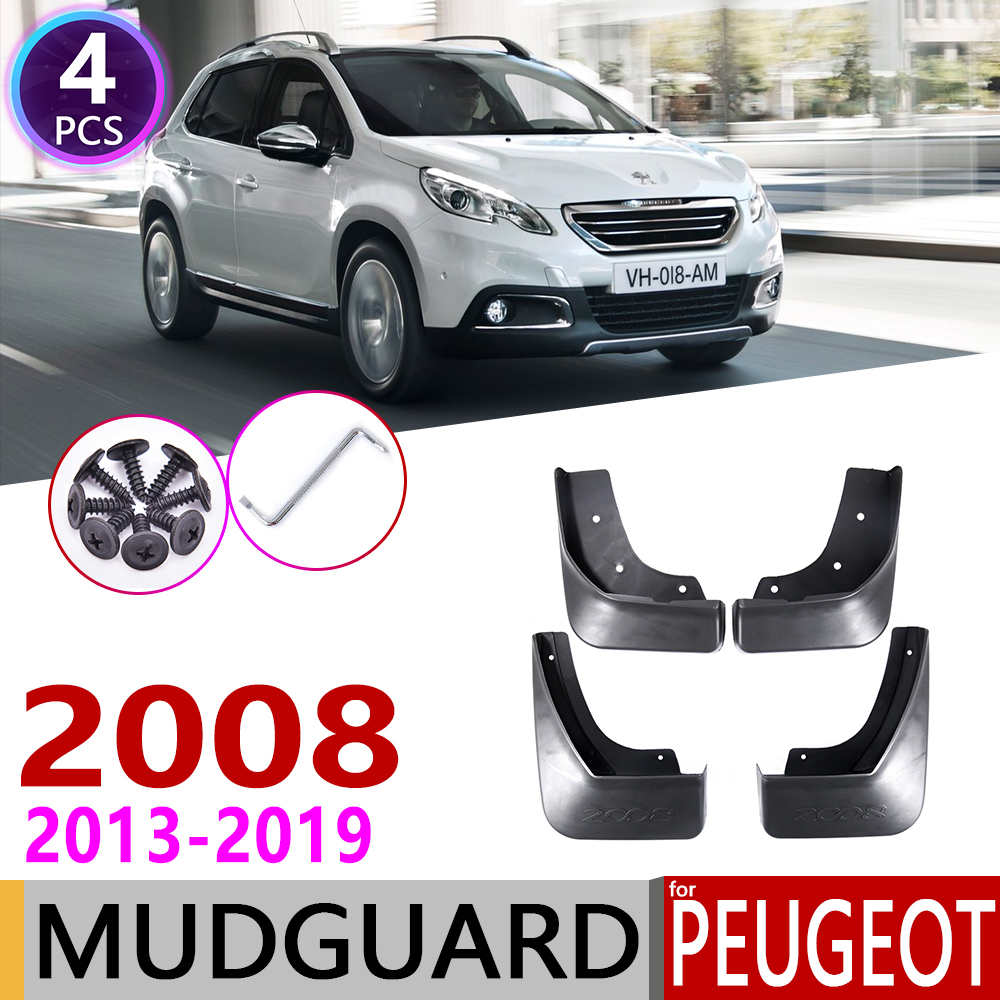 Front Rear Mudflap For Peugeot 2008 2013~2019 Fender Mud Guard Flap Splash Flaps Mudguards Accessories 2014 2015 2016 2017 2018